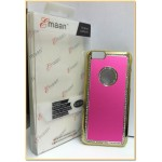 "EMAAN - Luxury Diamond Crystal Rhinestone Bling Hard Case Cover For Apple iPhone 6 4.7"" - PINK with back border"