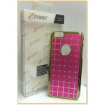 "EMAAN - Luxury Diamond Crystal Rhinestone Bling Hard Case Cover For Apple iPhone 6 4.7"" - DARK PINK COLOR - CHECKS PATTERN"