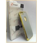 "EMAAN - Luxury Diamond Crystal Rhinestone Bling Hard Case Cover For Apple iPhone 6 4.7"" - SILVER AND GOLD COLOR"